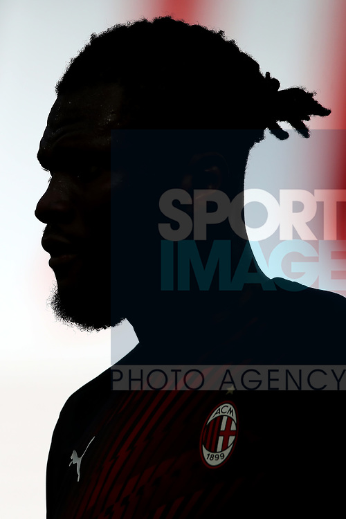 AC Milan's Ivorian midfielder Franck Kessie silhouetted against the sunlit stands during the Serie A match at Giuseppe Meazza, Milan. Picture date: 28th June 2020. Picture credit should read: Jonathan Moscrop/Sportimage