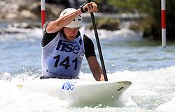 Benjamin Savsek (SLO) of Men's C1 Canoe Single at Heats - 1st Run of ICF Kayak/Canoe Slalom Racing World Cup Tacen 2008, on June 28, 2008, Ljubljana, Slovenia. (Photo by Vid Ponikvar / Sportal Images)../ Sportida)