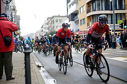 Lotto Soudal Ladies chase out of the corner at Driedaagse Brugge - De Panne 2018 - a 151.7 km road race from Brugge to De Panne on March 22, 2018. Photo by Sean Robinson/Velofocus.com