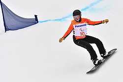 MENTEL-SPEE Bibian NED competing in ParaSnowboard, Snowboard Banked Slalom at  the PyeongChang2018 Winter Paralympic Games, South Korea.