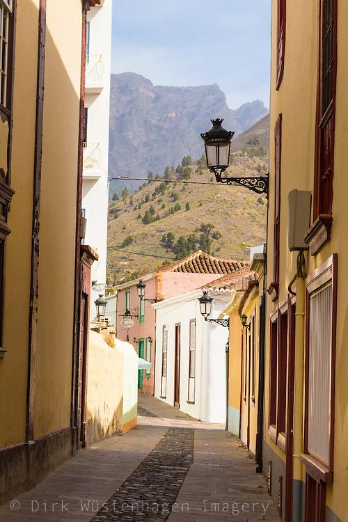 Gasse in der Altstadt von Los Llanos, La Palma, Kanarische Inseln, Spanien