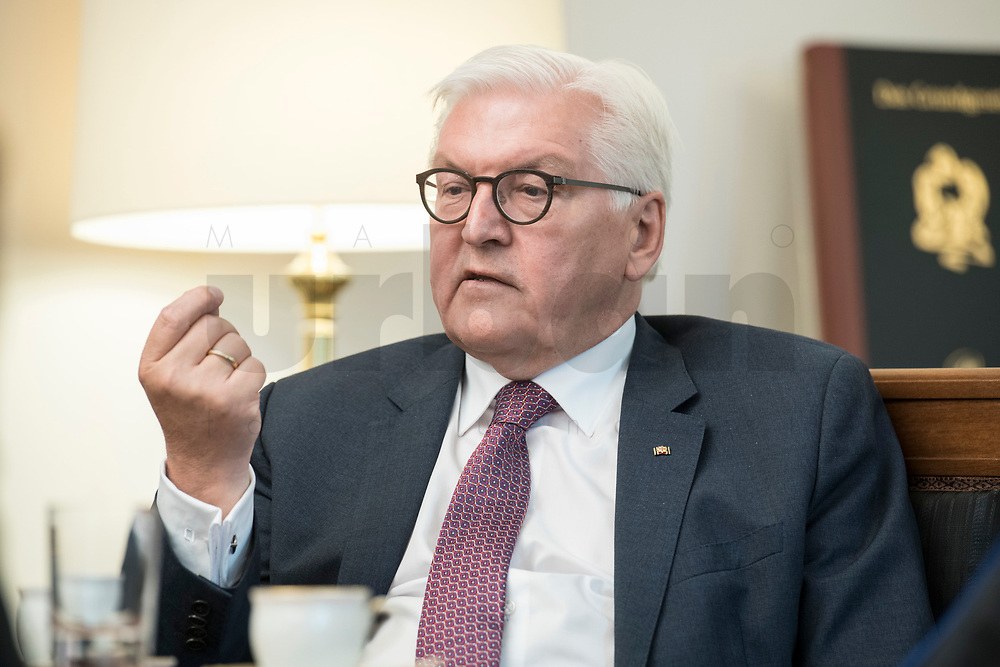 02 JUL 2018, BERLIN/GERMANY:<br /> Frank-Walter Steinmeier, Bundespraesident, waehrend einem Interview, Amtszimmer des Bundespraesidenten, Schloss Bellevue<br /> IMAGE: 20180702-01-045<br /> KEYWORDS: Bundespräsident