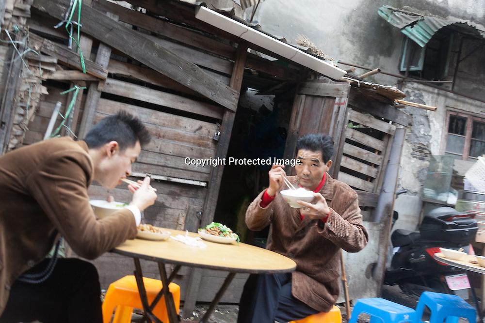 China, Shanghai. Baoshan road area Market