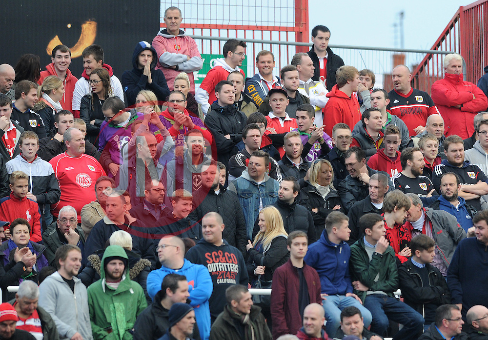 Bristol City fans - Photo mandatory by-line: Dougie Allward/JMP - Mobile: 07966 386802 - 15/11/14 - SPORT - Football - Swindon - The County Ground - Swindon Town v Bristol City - Sky Bet League One