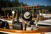 Steam boating on Lake Winnipesaukee at Lee's Mill.  Karen Bobotas for the Laconia Daily Sun