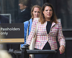 © Licensed to London News Pictures. 04/09/2019. London, UK. Conservative MP CAROLINE NOKES is seen at the Houses of Parliament in Westminster, London. British Prime Minister Boris Johnson has a called for a general election after losing his first commons vote and losing his majority, removing his control of parliament. Photo credit: Ben Cawthra/LNP