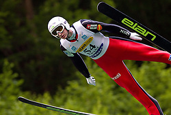 Mitja Meznar (SLO) of NSK Trzic Trifix during Ski Jumping Summer Continental Cup in Kranj, on July 2, 2011, in Kranj, Slovenia. (Photo by Vid Ponikvar / Sportida)