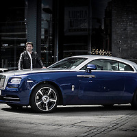 8/06/14 Manchester - Celebrity Chef and restauranteur James Martin with the RR Wraith