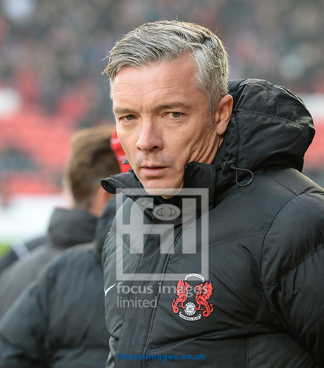Andy Edwards Manager of Leyton Orient during the Sky Bet League 2 match at the Keepmoat Stadium, Doncaster<br /> Picture by Richard Land/Focus Images Ltd +44 7713 507003<br /> 26/11/2016