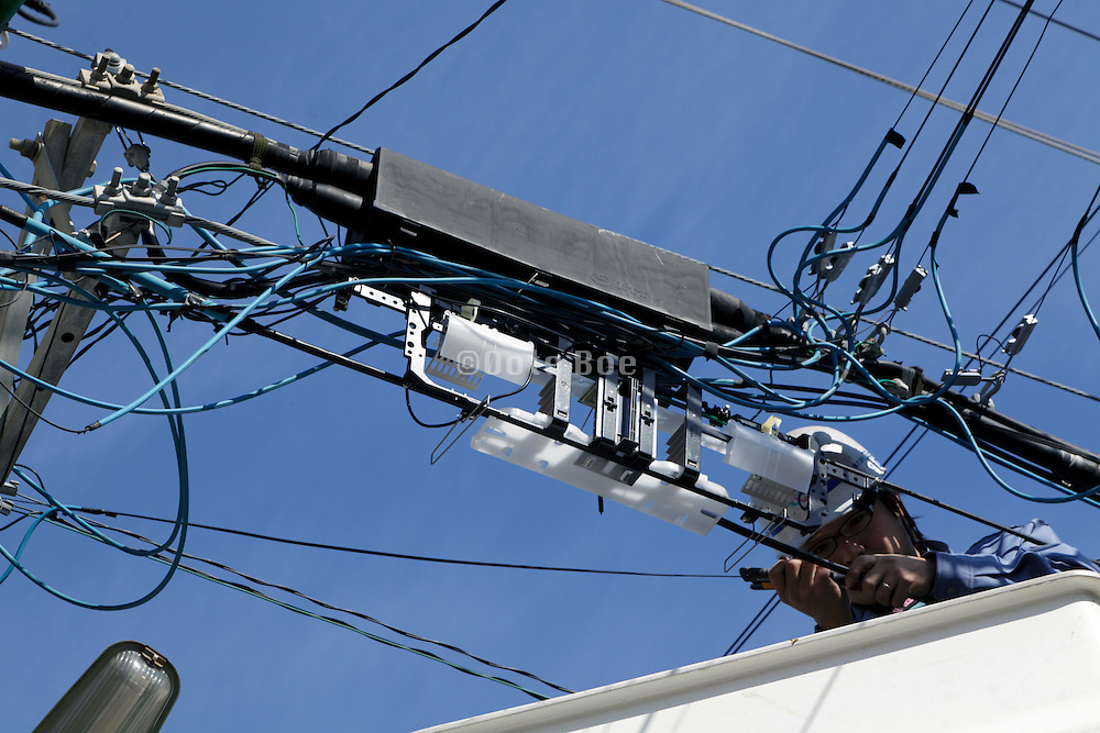 high speed internet cabling and other above ground utility cables