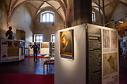 "Permanent exhibition about Hussite leader Jan Zizka at the Gothic hall of the Hussite Museum in Tabor. Jan Žižka z Trocnova a Kalicha was a Czech general and Hussite leader, follower of Jan Hus who was born in the small village of Trocnov (now part of Borovany) in Bohemia, into a gentried family. He was nicknamed ""One-eyed Zizka."