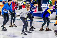 HEERENVEEN - Prins Pieter Christiaan op het ijs van Thialf Heerenveen tijdens De Hollandse 100. Het doel van dit sportieve evenement is het ophalen van geld voor onderzoek naar lymfklierkanker. ANP ROYAL IMAGES ROBIN UTRECHT