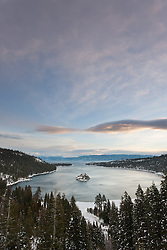 """Emerald Bay 5"" - Photograph of the world famous Emerald Bay in Lake Tahoe, CA in the early morning."