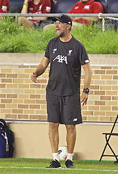 SOUTH BEND, INDIANA, USA - Friday, July 19, 2019: Liverpool's manager Jürgen Klopp reacts during a friendly match between Liverpool FC and Borussia Dortmund at the Notre Dame Stadium on day four of the club's pre-season tour of America. (Pic by David Rawcliffe/Propaganda)