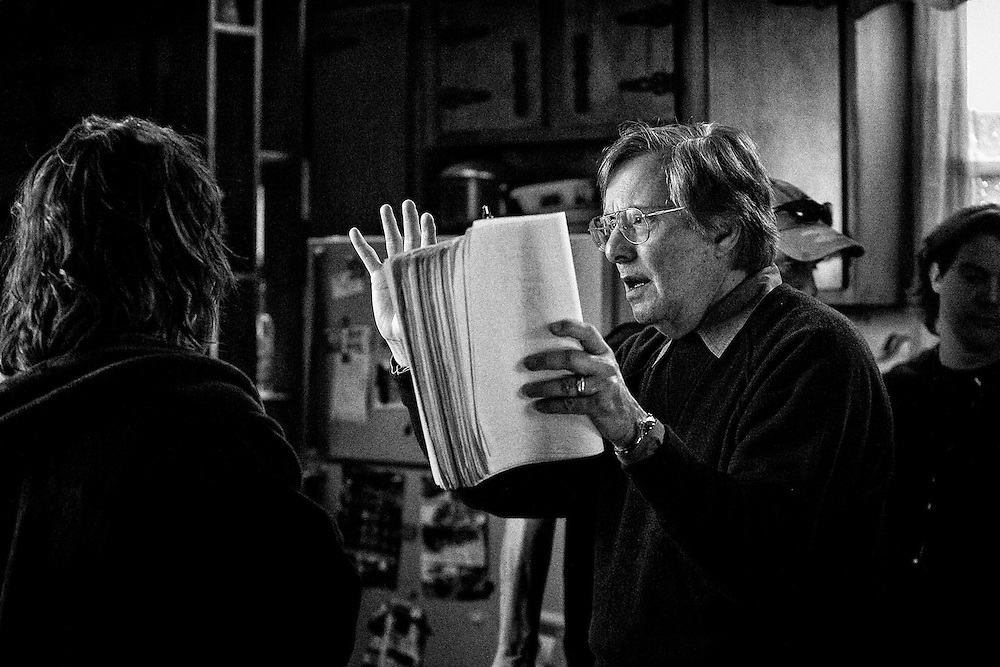 Director William Friedkin with Actress Gina Gershon on the set of the feature film 'Killer Joe' in New Orleans, LA.