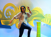 20110730: RIO DE JANEIRO, BRAZIL - Brazilian singer Ivete Sangalo attending Qualification draw for the 2014 World Cup held at the Marina da Gloria in Rio<br />