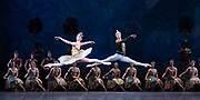 La Bayadere <br /> A ballet in three acts <br /> Choreography by Natalia Makarova <br /> After Marius Petipa <br /> The Royal Ballet <br /> At The Royal Opera House, Covent Garden, London, Great Britain <br /> General Rehearsal <br /> 30th October 2018 <br /> <br /> STRICT EMBARGO ON PICTURES UNTIL 2230HRS ON THURSDAY 1ST NOVEMBER 2018 <br /> <br /> <br /> Vadim Muntagirov as Solor <br /> A warrior <br /> <br /> Natalia Osipova as Gamzatti <br /> <br /> <br /> Photograph by Elliott Franks Royal Ballet's Live Cinema Season - La Bayadere is being screened in cinemas around the world on Tuesday 13th November 2018 <br />