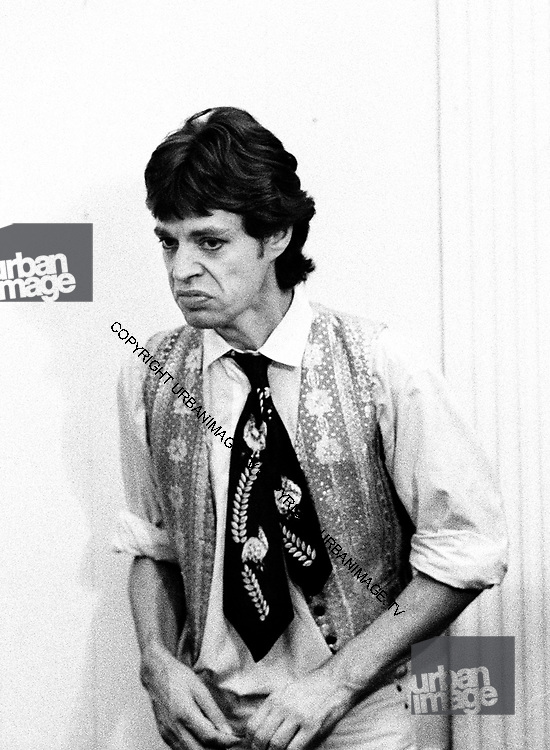 Mick Jagger -  Rolling Stones during the Don't Look Back video shoot - Strawberry Hill Jamaica 1978.