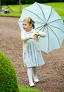 Borgholm,  14-07-2015<br /> <br /> Crown Princess Victoria of Sweden celebrated her 38th birthday at Solliden Slott with Prince Daniel, Princess Estelle, King Carl Gustaf and Queen Silvia.<br /> <br /> Royalportraits Europe/Bernard Ruebsamen