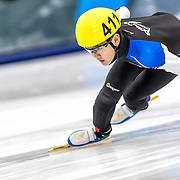 December 17, 2016 - Kearns, UT - Andrew Kim skates during US Speedskating Short Track Junior Nationals and Winter Challenge Short Track Speed Skating competition at the Utah Olympic Oval.