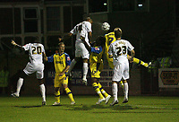 Photo: Rich Eaton.<br /> <br /> Torquay United v Norwich City. Carling Cup. 23/08/2006. Leon McKenzie jumps highest and scores the first goal of the game for Norwich