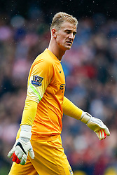 Joe Hart of Manchester City looks dejected as he leaves the pitch after Stoke City win the match 0-1 - Photo mandatory by-line: Rogan Thomson/JMP - 07966 386802 - 30/08/2014 - SPORT - FOOTBALL - Manchester, England - Etihad Stadium - Manchester City v Stoke City - Barclays Premier League.