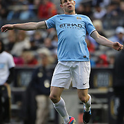 James Milner, Manchester, City, in action during the Manchester City V Chelsea friendly exhibition match at Yankee Stadium, The Bronx, New York. Manchester City won the match 5-3. New York. USA. 25th May 2012. Photo Tim Clayton