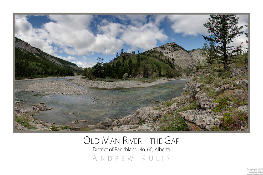 "The Old Man River where it passes through a gap in the Front Range of the Rocky Mountains.  This location known for strong winds howling through the ""gap"". - 3 shot stiched panorama"