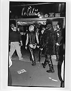 people arriving at the skin two rubber ball, hammersmith palais, london 3rd November 1997.  ONE TIME USE ONLY - DO NOT ARCHIVE  © Copyright Photograph by Dafydd Jones 66 Stockwell Park Rd. London SW9 0DA Tel 020 7733 0108 www.dafjones.com