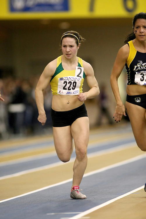 Windsor, Ontario ---12/03/09--- Amanda Ruller of  the University of Regina competes in the 60m prelims at the CIS track and field championships in Windsor, Ontario, March 12, 2009..Sean Burges Mundo Sport Images