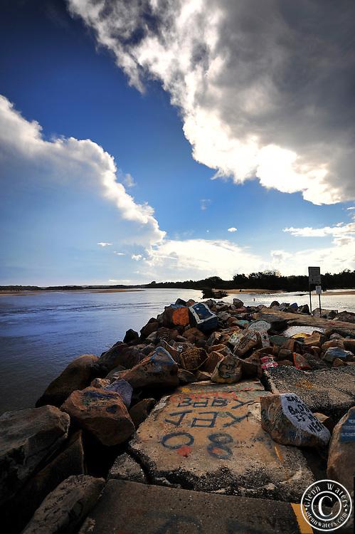 Rock art gallery at Nambucca Heads NSW Australia.