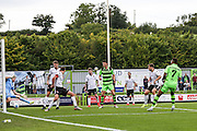 Forest Green Rovers Keanu Marsh-Brown (7) scores, 1-0 during the Vanarama National League match between Forest Green Rovers and Bromley FC at the New Lawn, Forest Green, United Kingdom on 17 September 2016. Photo by Shane Healey.