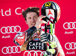 18.12.2016, Grand Risa, La Villa, ITA, FIS Ski Weltcup, Alta Badia, Riesenslalom, Herren, Siegerpräsentation, im Bild Marcel Hirscher (AUT, 1. Platz) // race winner Marcel Hirscher of Austria during the winner presentation for the men's Giant Slalom of FIS ski alpine world cup at the Grand Risa race Course in La Villa, Italy on 2016/12/18. EXPA Pictures © 2016, PhotoCredit: EXPA/ Johann Groder