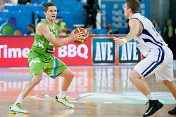 Jaka Lakovic of Slovenia during basketball match between National teams of Finland and Slovenia in 2nd Round at Day 13 of Eurobasket 2013 on September 14, 2013 in SRC Stozice, Ljubljana, Slovenia. (Photo By Urban Urbanc / Sportida)