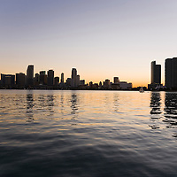 Miami skyline at dusk, Florida, USA