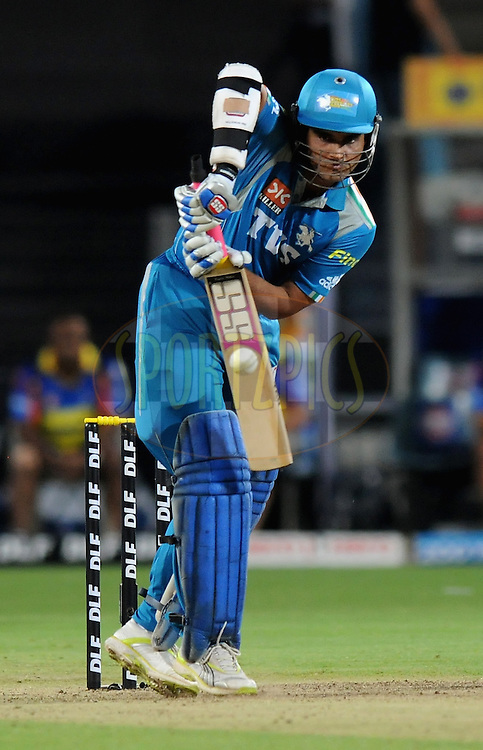 Souvrav Ganguly captain of Pune Warriors India bats during match 16 of the Indian Premier League ( IPL) 2012  between The Pune Warriors India and the Chennai Super Kings held at the Subrata Roy Sahara Stadium, Pune on the 16th April 2012..Photo by Pal Pillai/IPL/SPORTZPICS