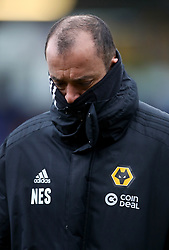 Wolverhampton Wanderers manager Nuno Espirito Santo during the FA Cup fourth round match at Montgomery Waters Meadow, Shrewsbury.