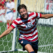 September 01, 2012: US Women's National Team forward Abby Wambach (14) celebrates a goal during the  U.S. Women's National Team vs. Costa Rica - International Friendly at Sahlen's Stadium - Rochester, N.Y.  The US Women's National Team defeated Costa Rica 8-0. (Credit Image: © Kostas Lymperopoulos/ Sport Media