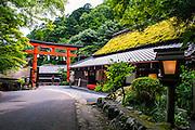 Arashiyama Station, Arashiyama, Kyoto, Japan.