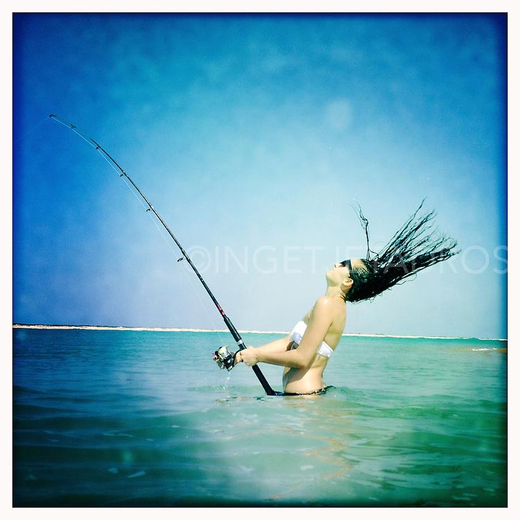 Looks like a catch, fishing in an Australian creek ©MR