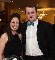 repro free: Ilona Noone and Hugh Forde both HSE at the SCSI, Society of Chartered Surveyors of Ireland West branch Annual Dinner 2017 at the Ardilaun Hotel, Galway. Photo:Andrew Downes.