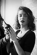 """Jade Labeste par Sylvain Labeste Portraits d'acteurs et de techniciens sur le tournage de """"Nos Vies Formidables"""" de Fabienne Godet. Lumière naturelle. Janvier 2017."""