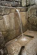 The Ritual Fountain at Machu Picchu, Peru.