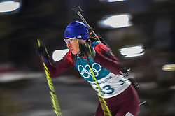 February 12, 2018 - Pyeongchang, Gangwon, South Korea - Uliana Kaisheva of New Zealand competing at Women's 10km Pursuit, Biathlon, at olympics at Alpensia biathlon stadium, Pyeongchang, South Korea. on February 12, 2018. Ulrik Pedersen/Nurphoto  (Credit Image: © Ulrik Pedersen/NurPhoto via ZUMA Press)