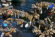 Locks to save marriages at Kronvaldapark (Crown Forest Park).