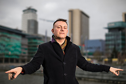 "© Licensed to London News Pictures . 22/01/2018 . Salford , UK . BOB RILEY , Chief Executive of Manchester Camerata . Former band members of the Smiths and Manchester Camerata were reported to be joining forces to create "" Classically Smiths "" which would have seen Smiths songs played live to a classical orchestral backing but now bass player Andy Rourke has said he knew nothing of the project and was never invited in the first place . Photo credit : Joel Goodman/LNP"
