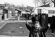 Irish Travellers living on the Ilderton Road site, South Bermondsey, London SE15. Pictures taken in 2002 and 2003