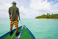 D'Arros Research Center Staff working in the St Joseph Atoll Lagoon, D'Arros Island and St Joseph Atoll, Amirantees, Seychelles,