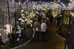 Photographer Ansel Adams forms the inspiration behind a large black-and-white floral display at the 2016 PHS Flower Show. Adams job is currently up for grabs as the National Parks Service is searching for a dedicated photographer to step I the shoes of the historic significant landscape photographer.  'Explore America' is the theme for the 2016 edition of the Pennsylvania Horticulture Society Flower Show. The annual show, the largest in its kind, is held at the Pennsylvania Convention Center in Center City Philadelphia PA., and runs till March 13.