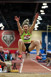 2020 USATF Indoor Championship<br /> Albuquerque, NM 2020-02-15<br /> photo credit: © 2020 Kevin Morris<br /> womens long jump, asics